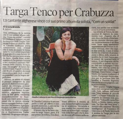La Nuova Sardegna 21 09 16